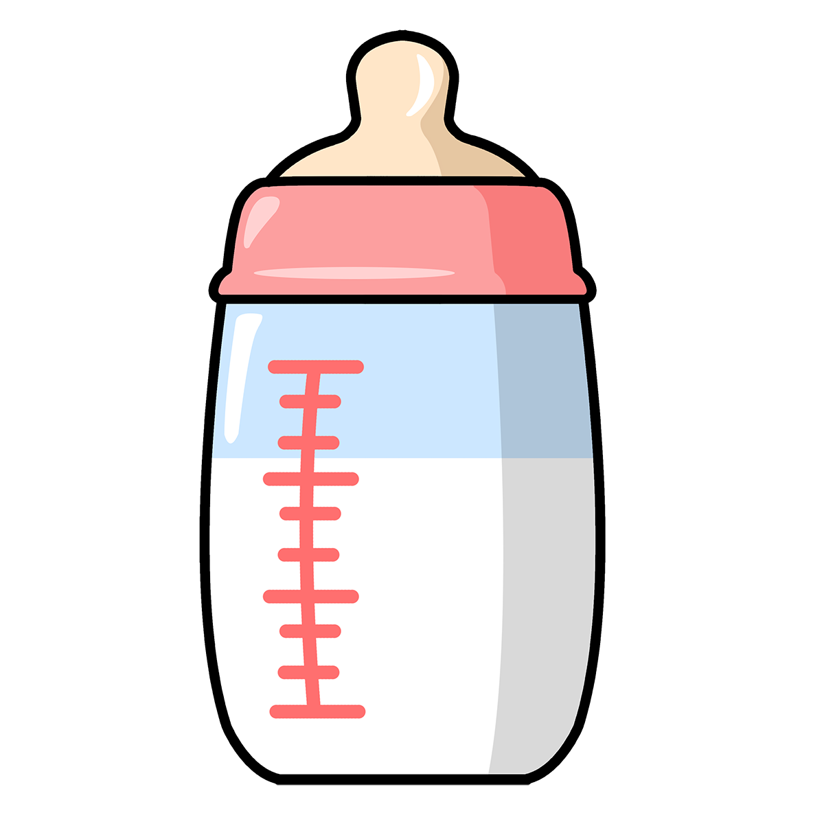 Deer clipart cute. Cartoon baby bottle