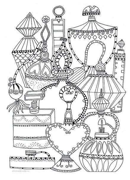 Bottle clipart colouring page. Perfume bottles coloring sketch