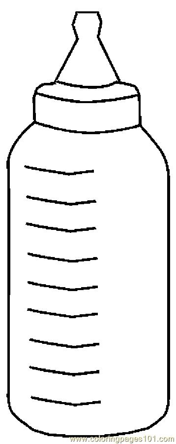 Bottle clipart colouring page. Baby coloring free others