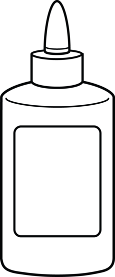 Glue coloring templates pages. Bottle clipart colouring page