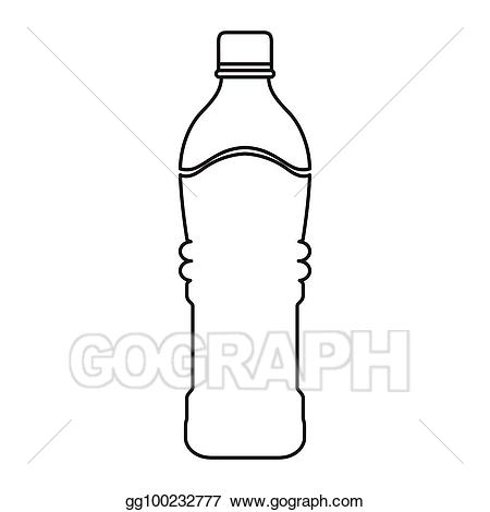 Bottle clipart drawing. Vector art mineral water