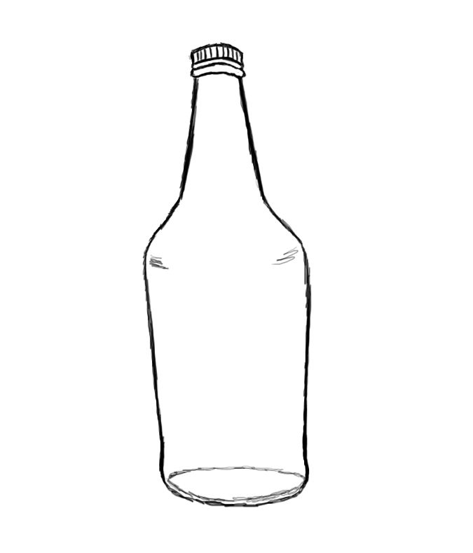 Bottle clipart drawing. How to draw a