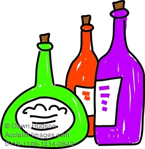 Image of a whimsical. Bottle clipart drawing