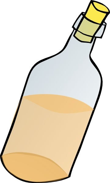 Clip art free vector. Bottle clipart drawing