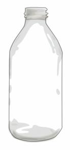Clear clip art at. Bottle clipart empty bottle