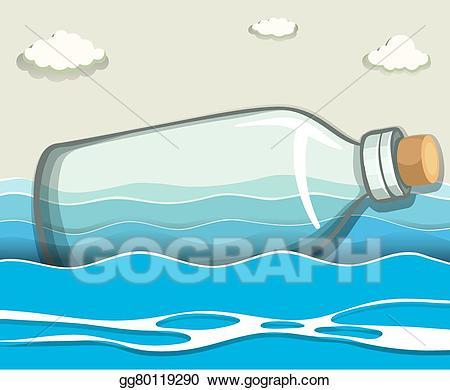 Bottle clipart empty bottle. Clip art vector floating