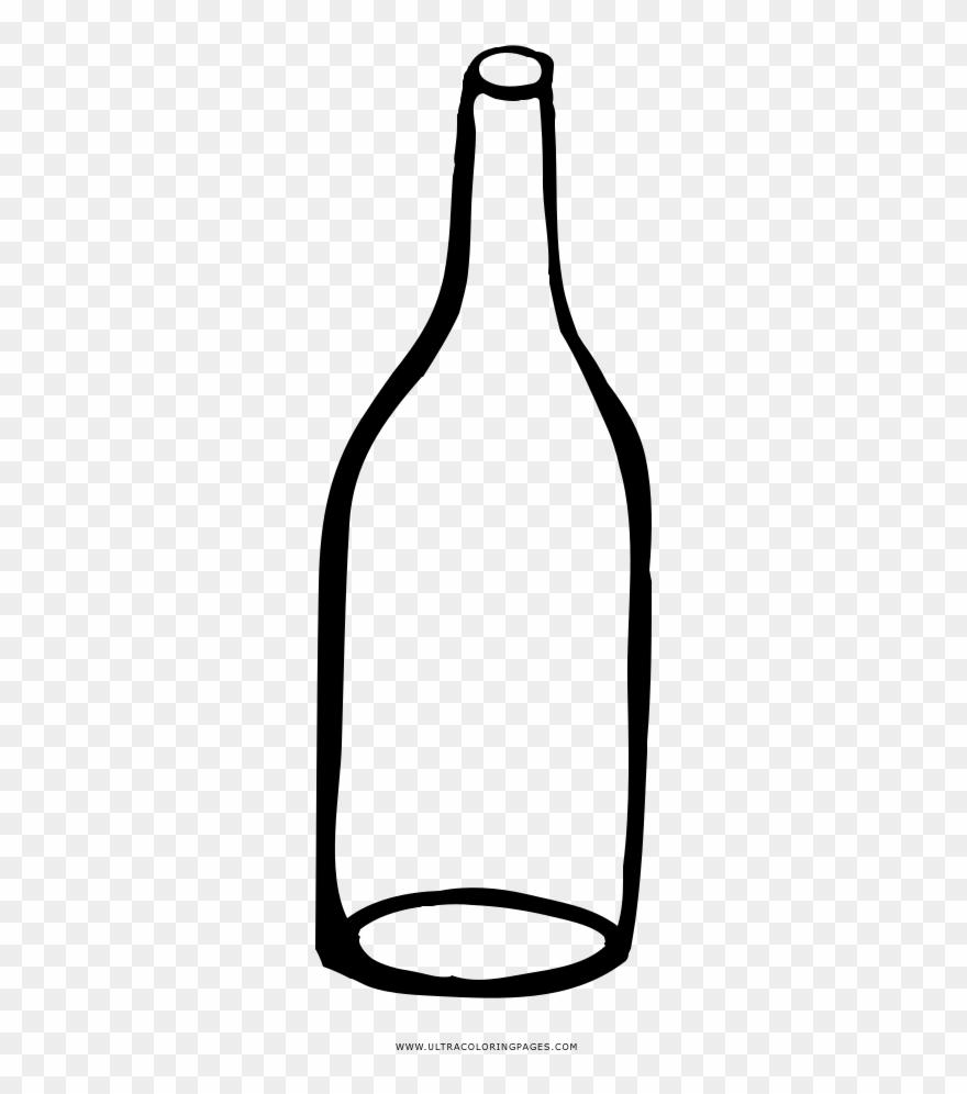 Bottle clipart empty bottle. Coloring page glass