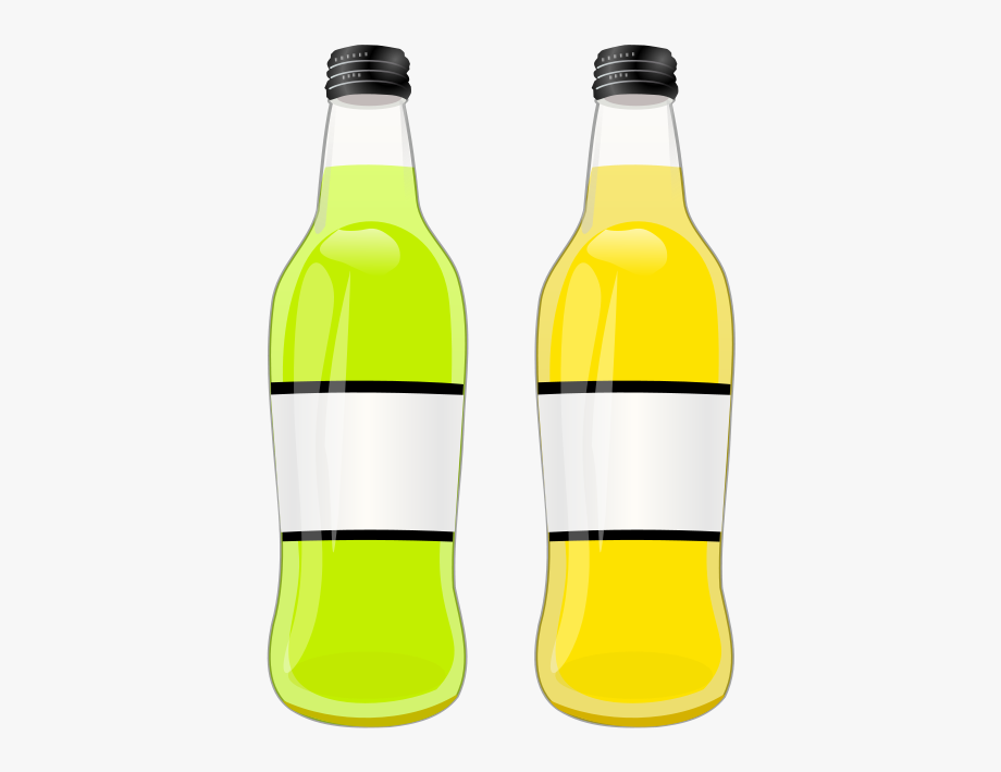 Drink clipart bottled drink. Fizzy drinks beer two