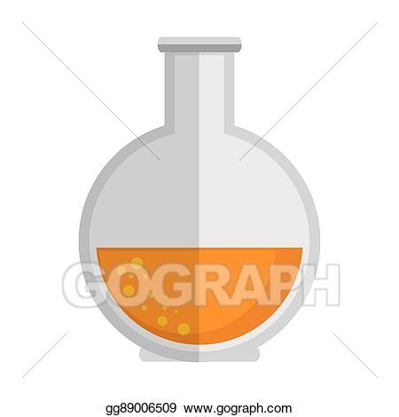 Chemical clipart bottle. Vector art florence flask