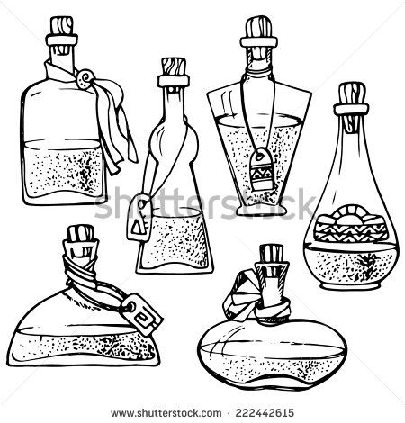 Bottle clipart line drawing.  best these images