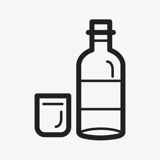 Bottle clipart line drawing. Wine rough glass png