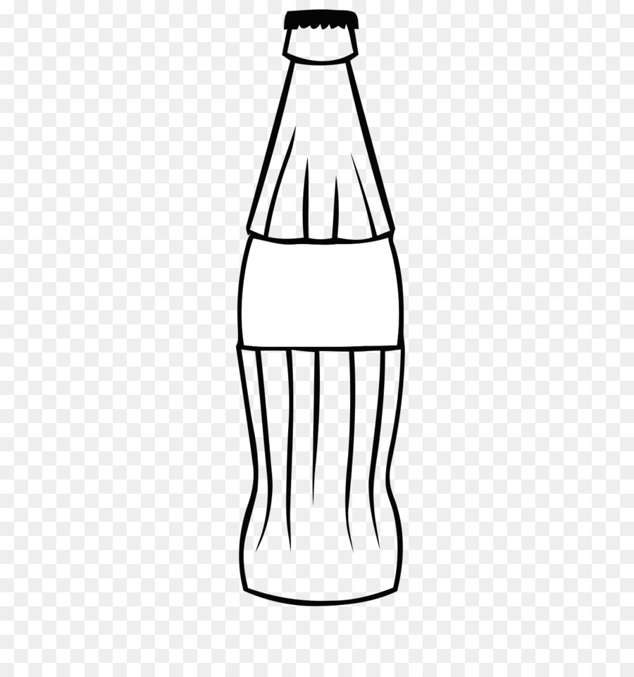 Coca cola fizzy drinks. Bottle clipart line drawing