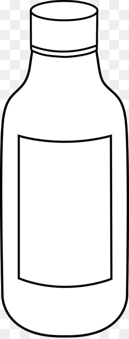 Art black and white. Bottle clipart line drawing
