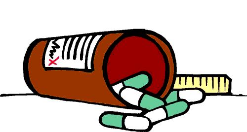 Pharmacy medical prescription bottle. Medication clipart pharmasist