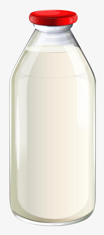 Transparent cartoon png image. Bottle clipart milk bottle