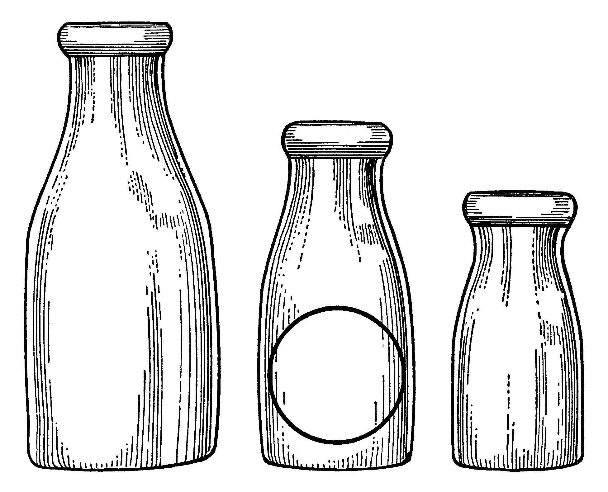 Bottle clipart milk bottle. Bottles clip art old