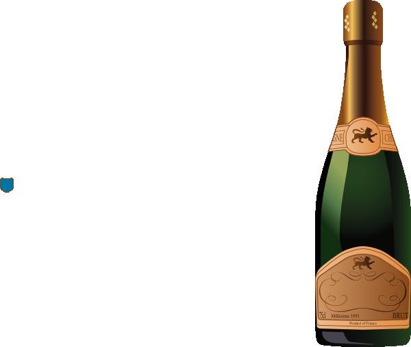 Champagne clip art at. Bottle clipart plain