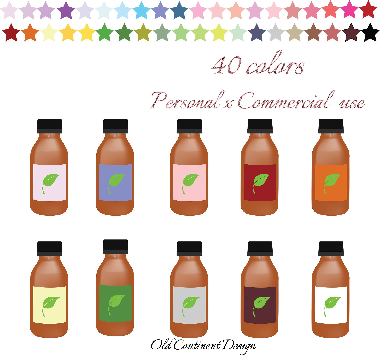 Bottle clipart printable. Essential oil bottles