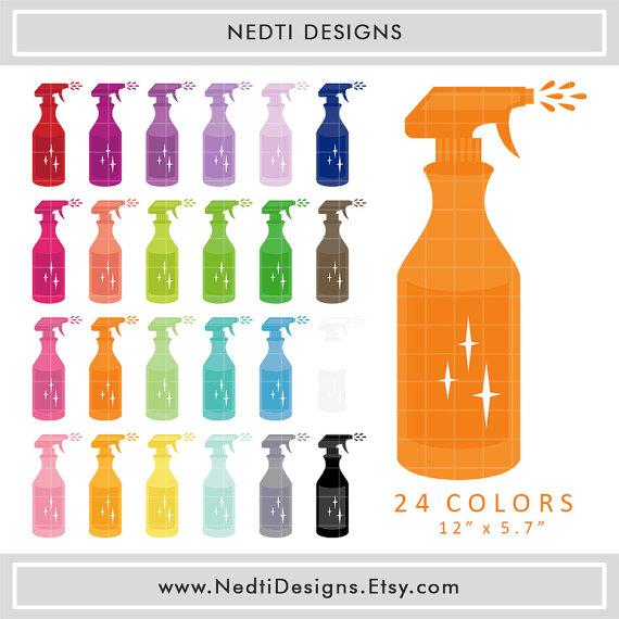 Bottle clipart printable.  spray colorful rainbow
