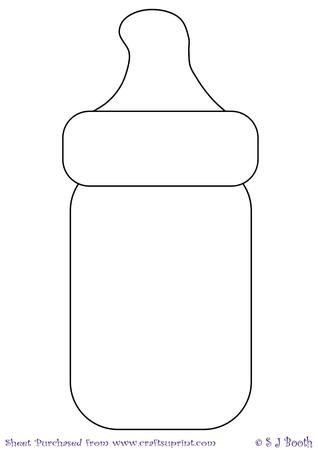 Baby template bottles crafts. Bottle clipart printable