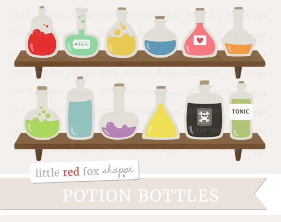 Bottle clipart science. Potion halloween clip art