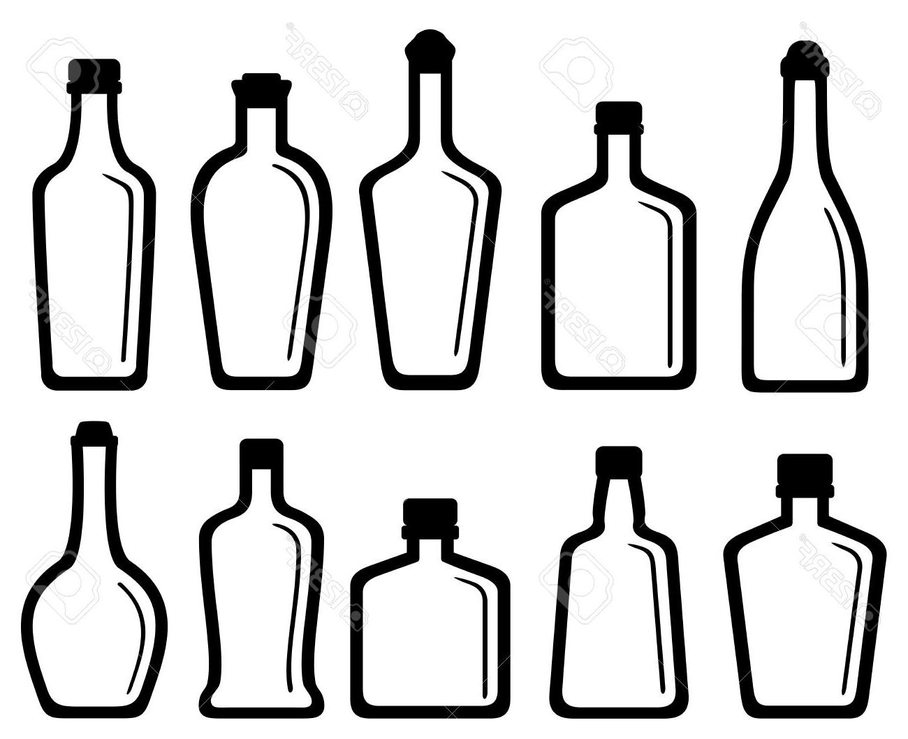 Bottle clipart silhouette. Awesome design digital collection