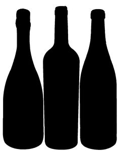 Wine glass glasses clip. Bottle clipart silhouette