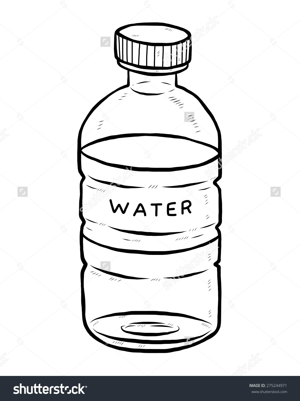 Black and white furniture. Bottle clipart water bottle