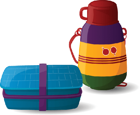 Lunch box and the. Lunchbox clipart water bottle