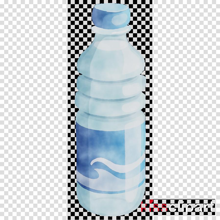 Bottle clipart water bottle. Plastic blue transparent