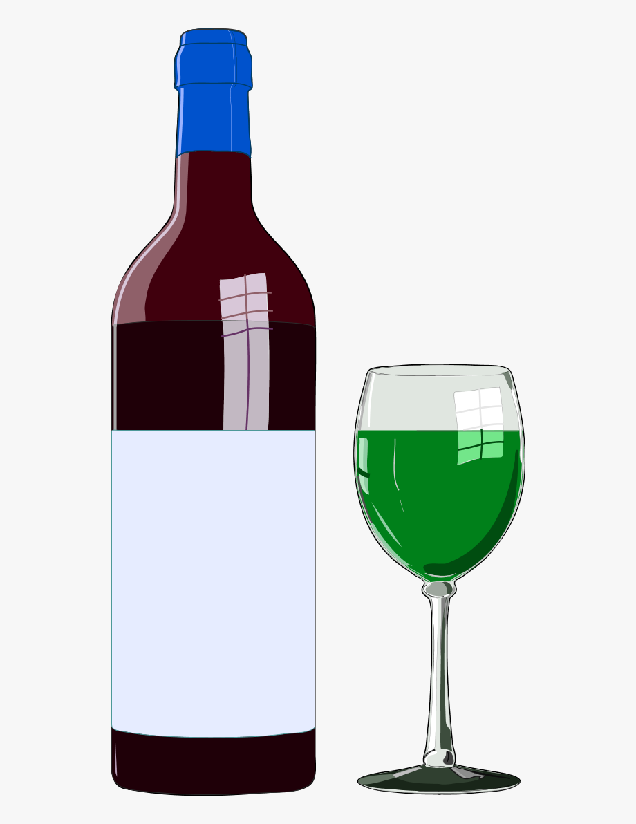 Bottle clipart wine bottle. And glass free