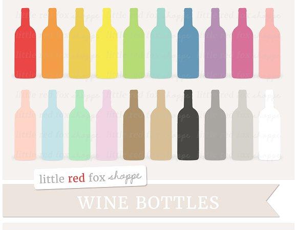 Illustrations creative market . Bottle clipart wine bottle