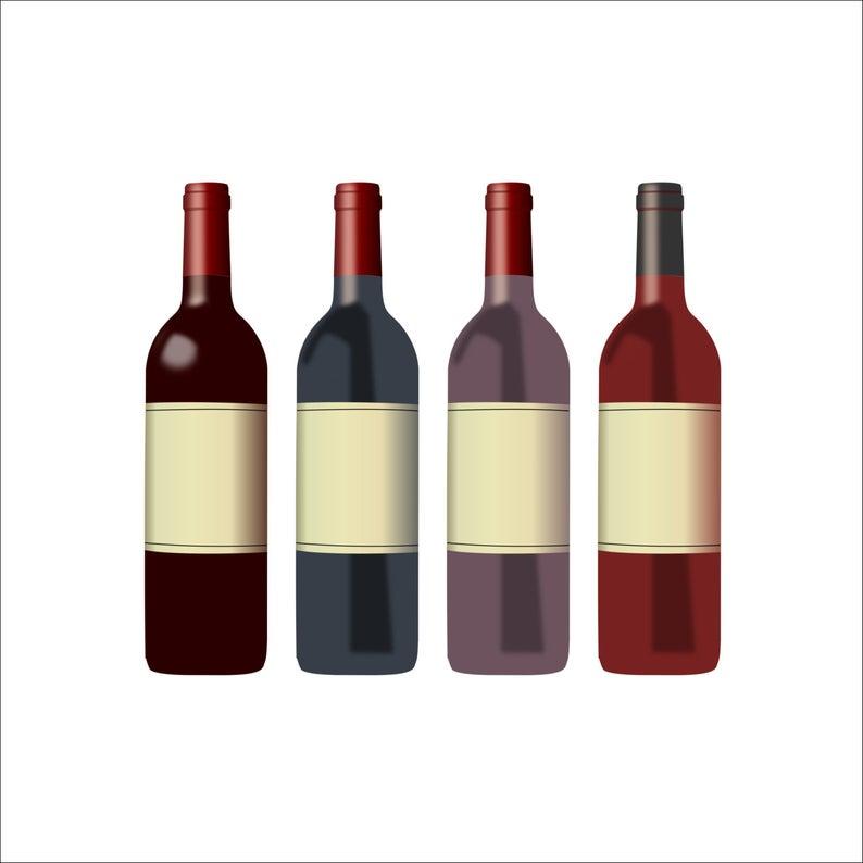Graphic restaurant drink alcohol. Bottle clipart wine bottle