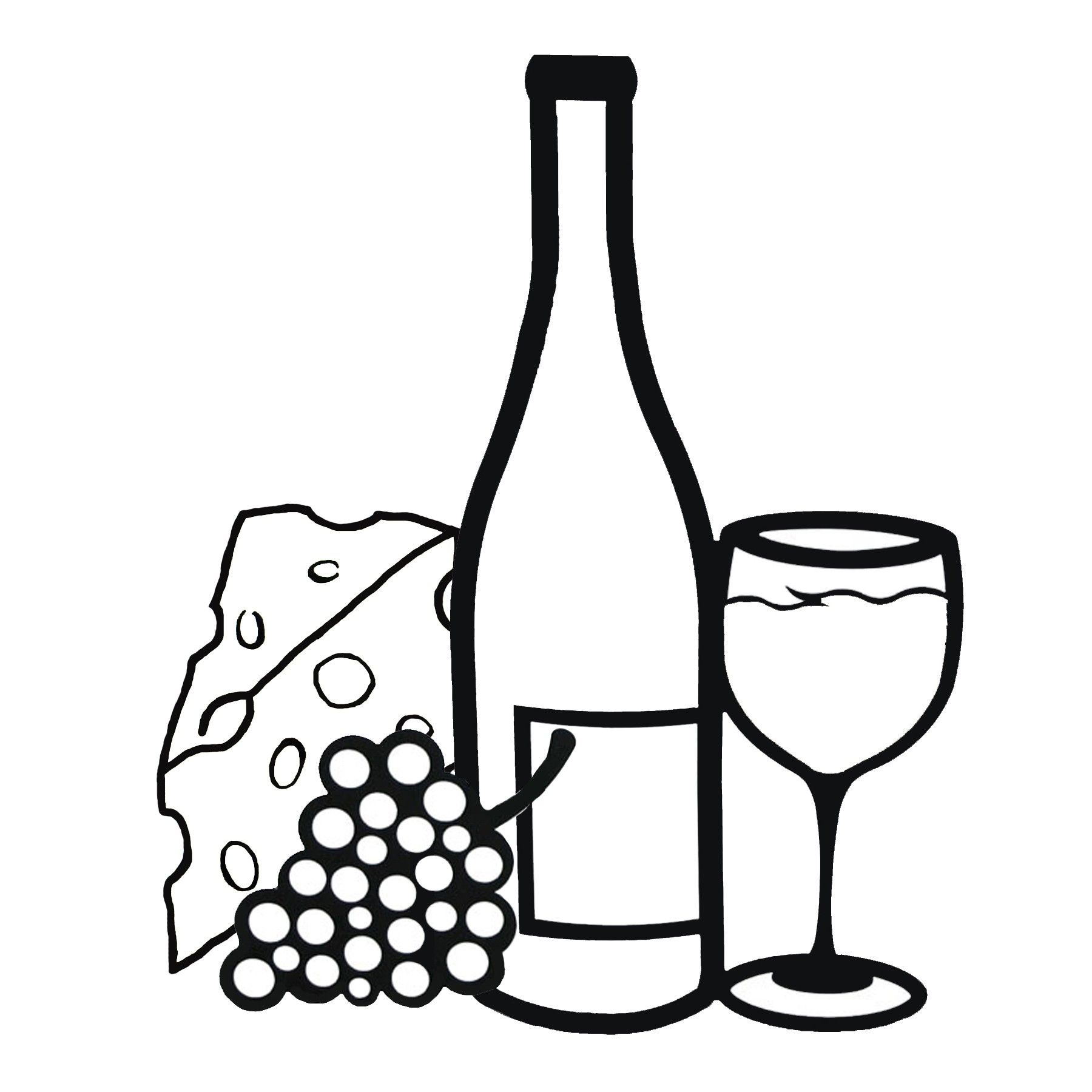 Images for and grapes. Chalk clipart wine glass