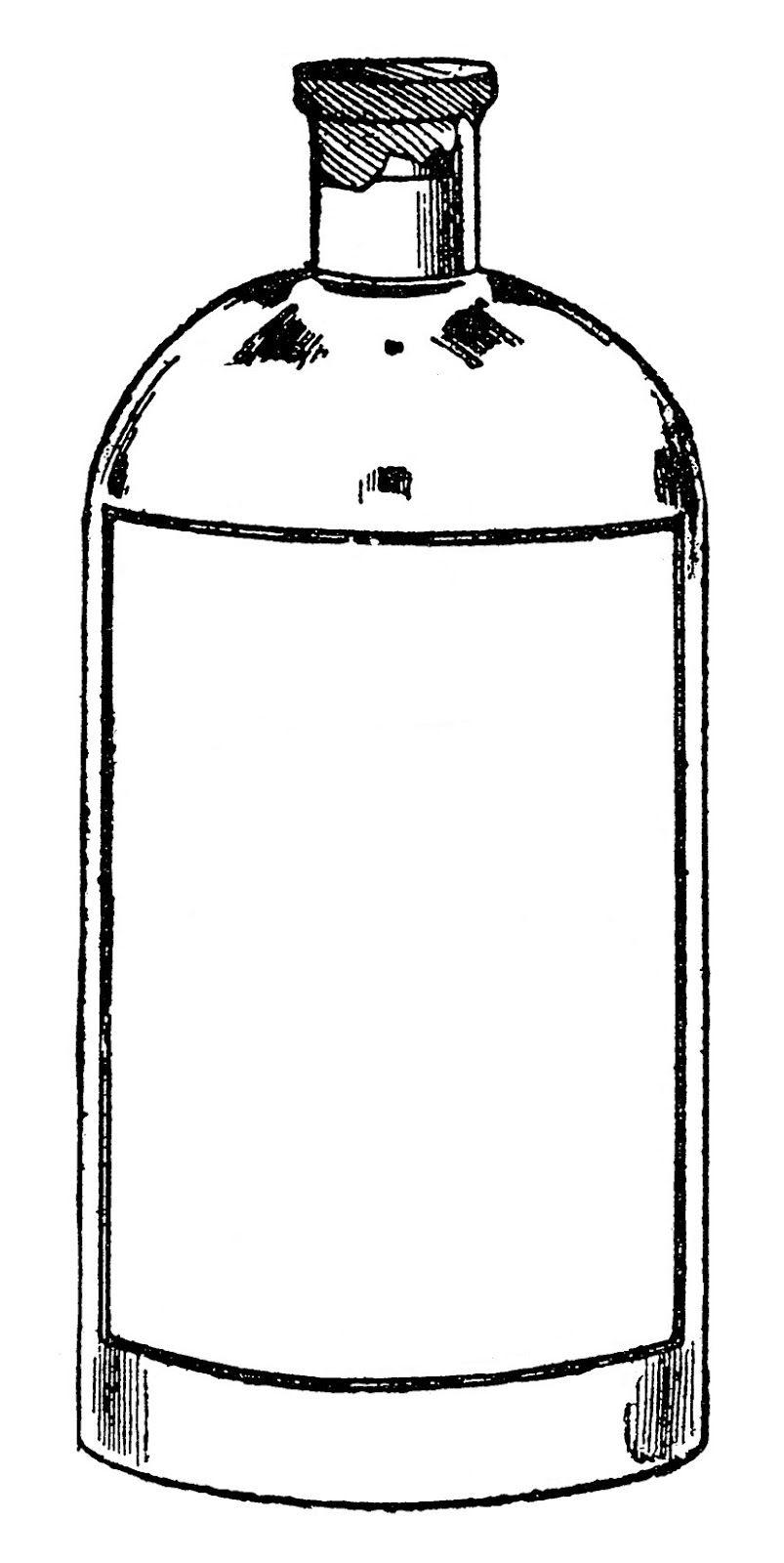 Bottle clipart. Potion clip art black
