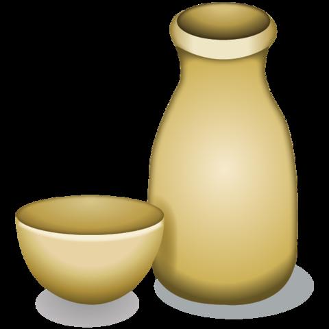 Bottle emoji png. Download sake and cup