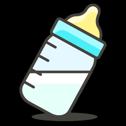 Bottle emoji png. Feeding milk icon free