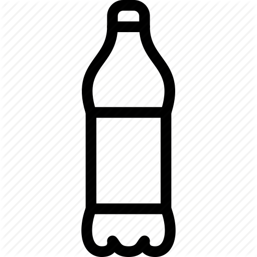 Bottle icon png. Drinks by container lineicon
