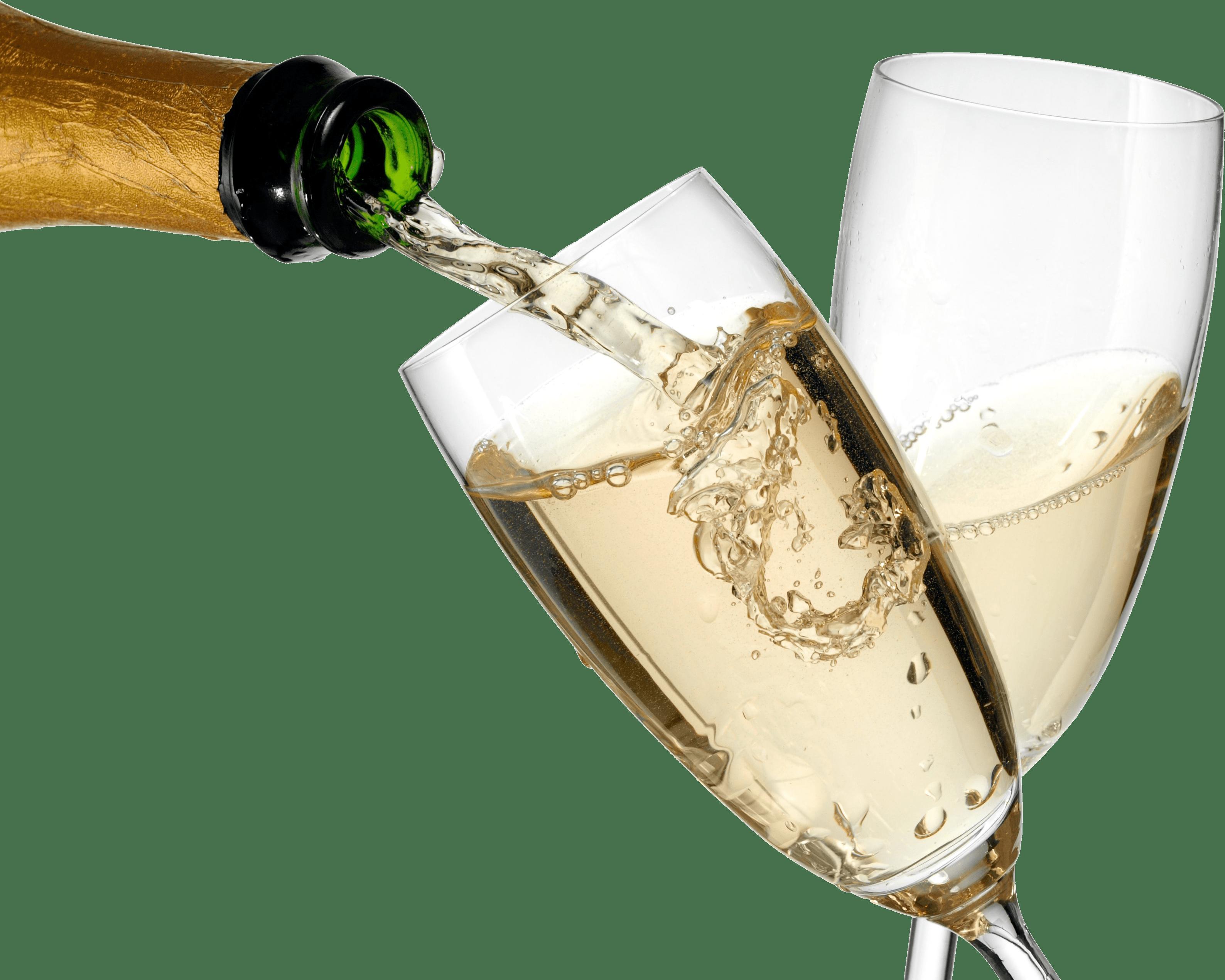 Serving transparent stickpng. Bottle of champagne png
