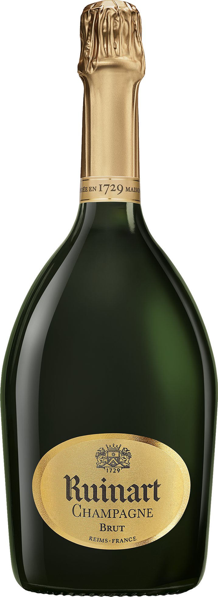 Bottle of champagne png. Ruinart maison the first