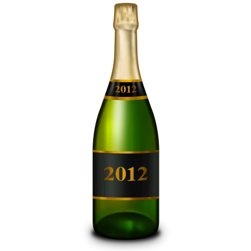 Bottle of champagne png. Icon new year iconset