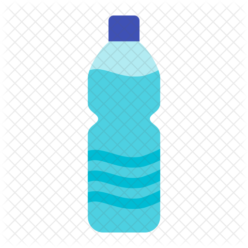 Bottle of food drinks. Water icon png