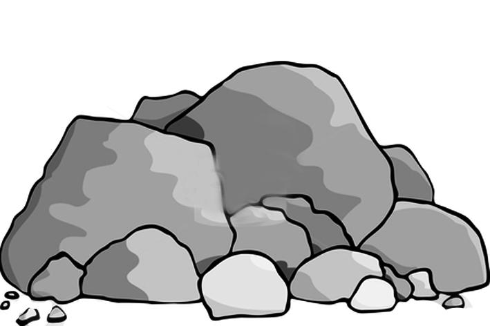 boulder clipart
