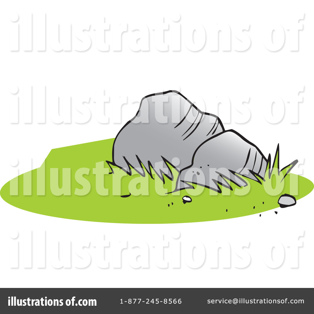 Illustration by johnny sajem. Boulder clipart