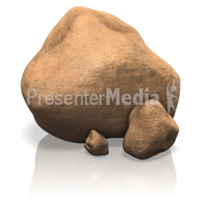 Boulders wildlife and nature. Boulder clipart animated