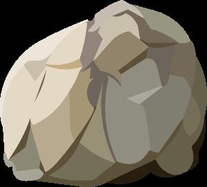 Boulder clipart batu. Harvestable resources rock small