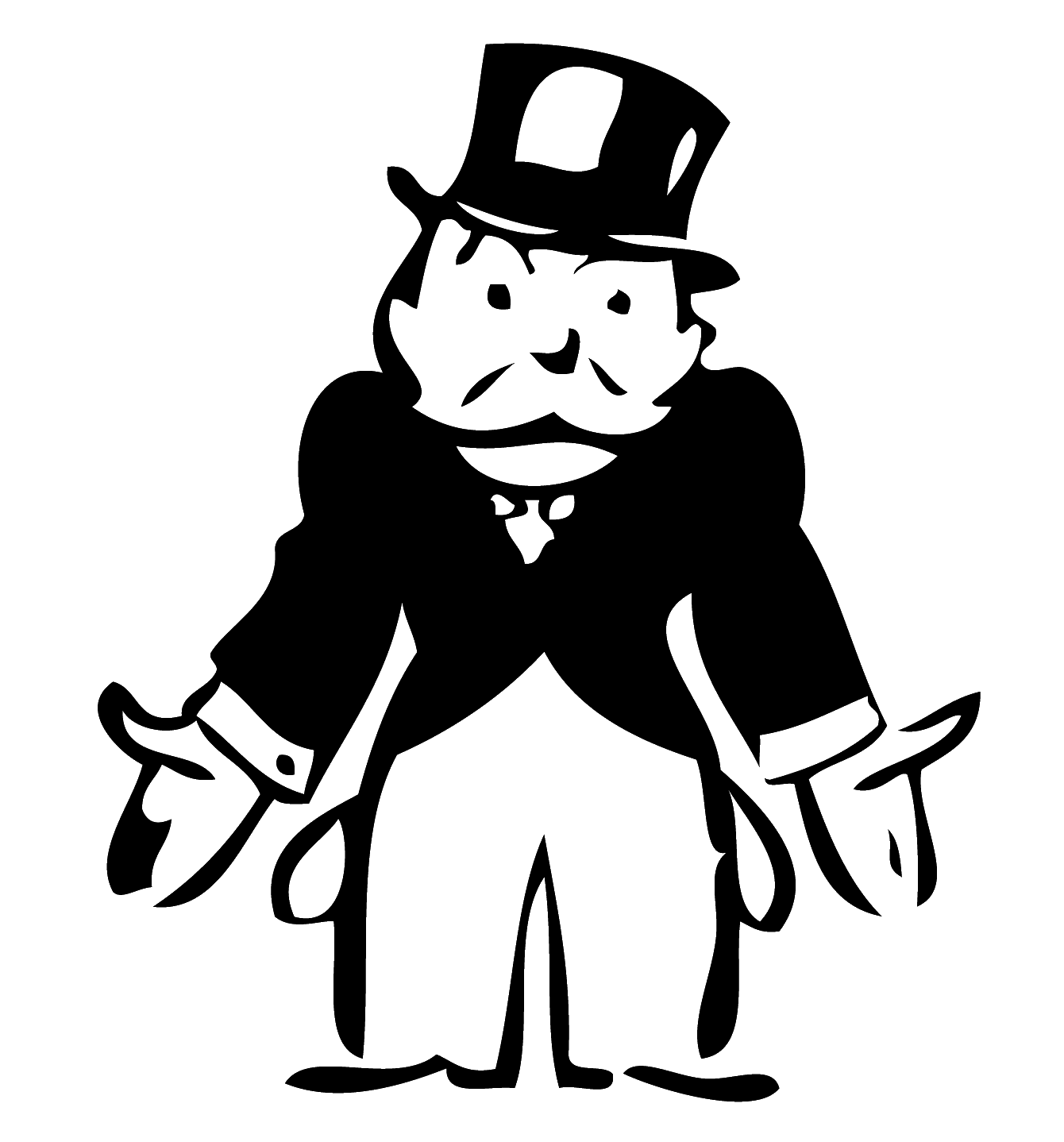 Selling out s taxpayers. Boulder clipart black and white