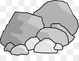 Rock free content clip. Boulder clipart black and white