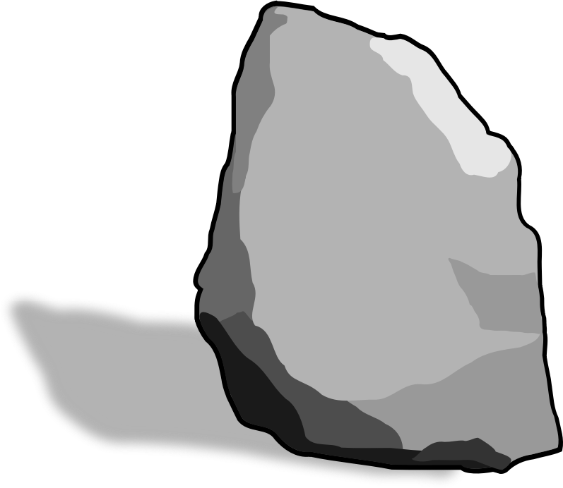 Hard rock free collection. Boulder clipart cute
