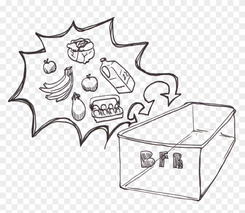Cartoon donating food drawings. Boulder clipart drawing